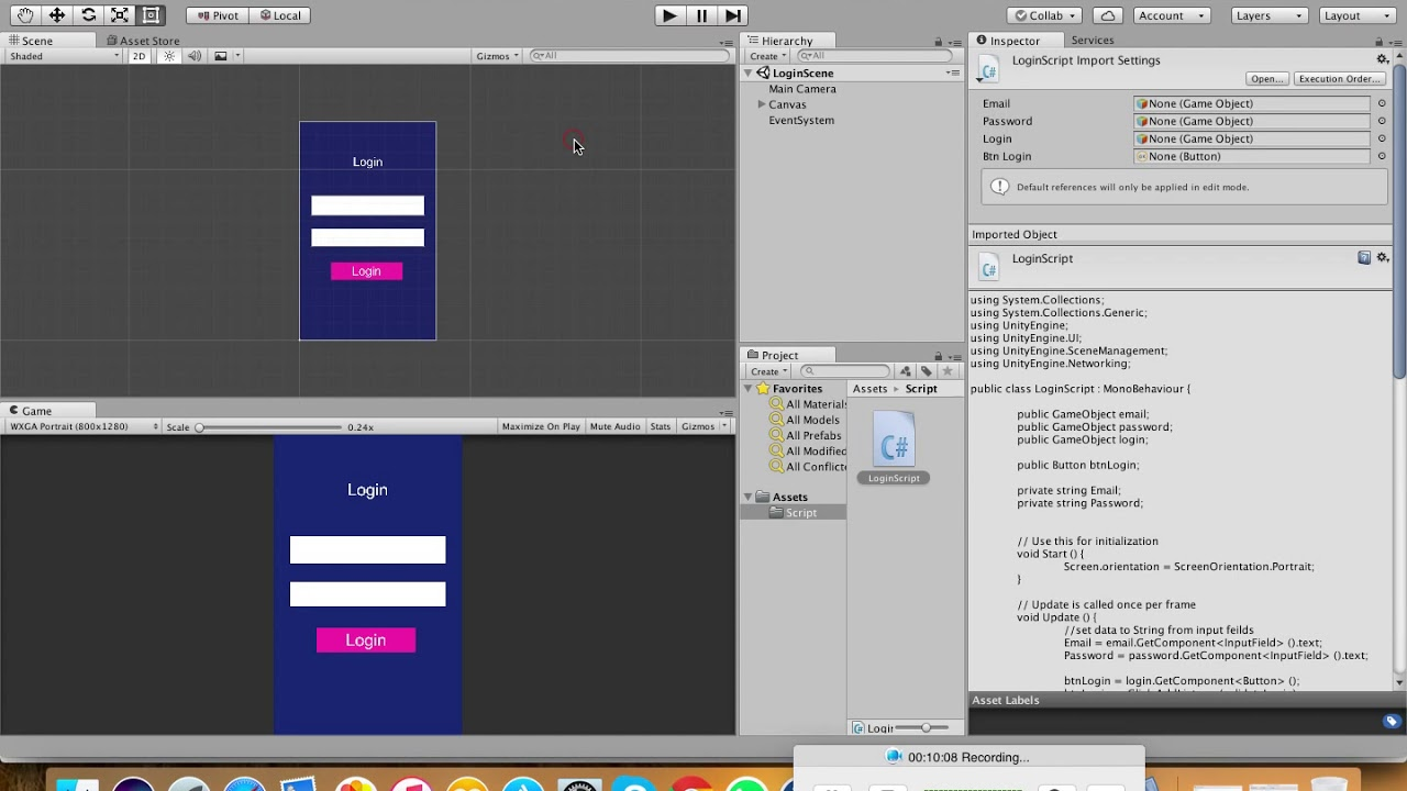 Unity 5 (Android) Lesson 2: Simple Login with post API and parse json