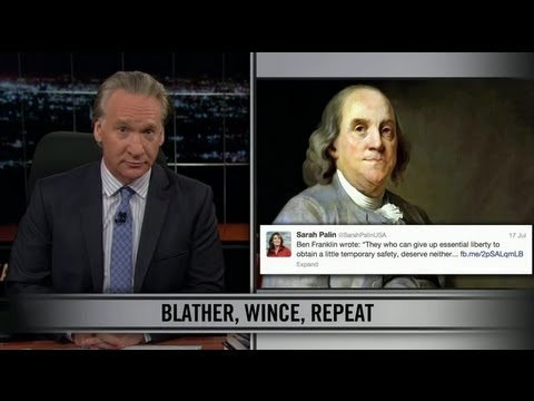 Bill Maher New Rules  - Giving up Liberty for Safety