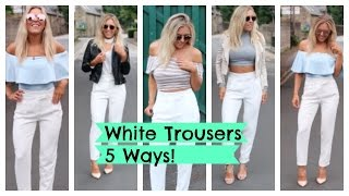 Styling White Tailored Trousers In 5 Ways #HelloYou Mystery Box with M&S ad | EmTalks