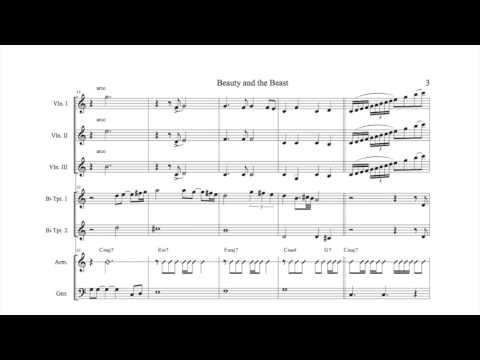 Beauty and the Beast Mariachi Sheet Music