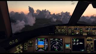 FSX Maxed Out | PMDG 777 | Approach into Oslo Airport