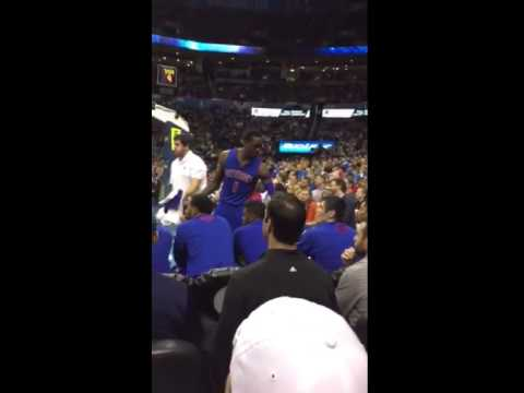 Reggie Jackson responds to an OKC heckler