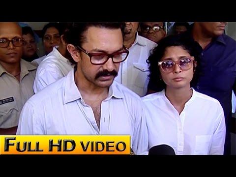 Aamir Khan In SHOCK After Reema Lagoo's Death | Funeral Video