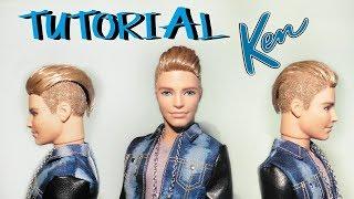 TUTORIAL: Capelli rasati per Ken ! - How to flock your doll's hair (ITA)