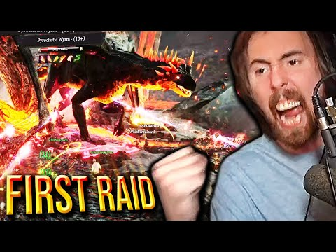 First Raid! Asmongold Fights a Dragon in Ashes of Creation (NEW MMO Gameplay)