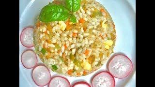 Как вкусно приготовить рис 🍚 с овощами .Ароматный, рассыпчатый жареный рис 😋👍