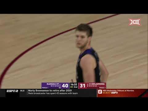 Kansas State vs Oklahoma Men's Basketball Highlights