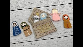 IN THE HOOP EMBROIDERY NATIVITY SET PEOPLE
