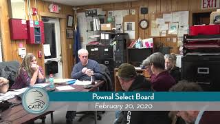 Pownal Select Board // 02/20/20