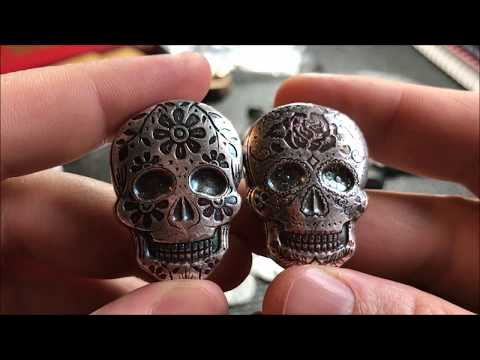 Silver Unboxing: Sugar Skulls and Egyptian fractional! Monarch Precious Metals.