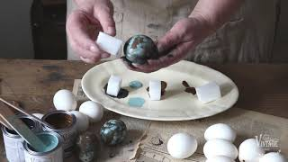 Vintage Paint | How to make verdigrized copper eggs