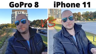 GoPro 8 Black VS iPhone 11 Camera Comparison!