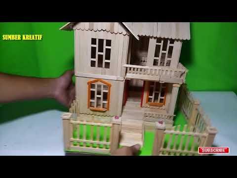 880 Koleksi Gambar Rumah Dua Tingkat Dari Stik Es Krim HD