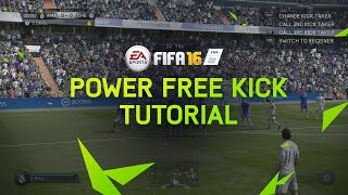 FIFA 16 Tutorial - How To Score Power Free Kicks