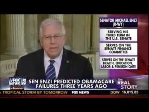 Mike Enzi on Fox News with Gretchen Carlson - Obamacare