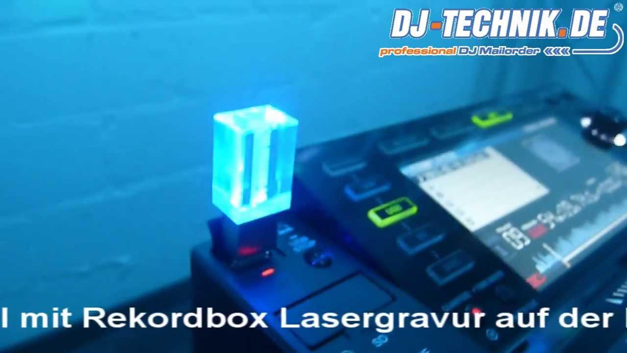 DJ-Technik de Crystal-Drive USB Stick mit 3D-Logo