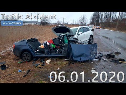 Подборка аварии ДТП на видеорегистратор за 06.01.2020 год