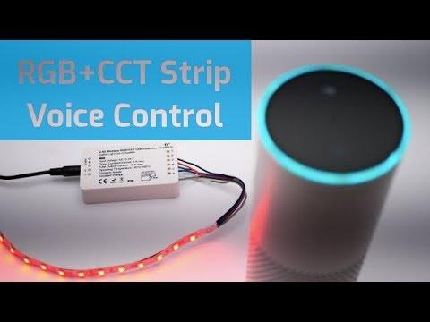 Zigbee Rgb Cct Controller Mit Amazon Echo Steuern Youtube
