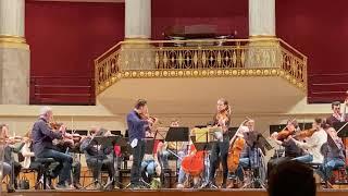 J. Rachlin & S. McElravy - Mozart Sinfonia Concertante - Vienna Konzerthaus (excerpt from rehearsal)