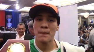 OSCAR VALDEZ REACTS TO BECOMING THE NEW WBO WORLD CHAMPION WITH BRUTAL TKO WIN / VALDEZ v RUEDA