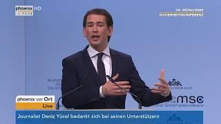 Matteusz Morawiecki und Sebastian Kurz bei der 54. Münchner Sicherheitskonferenz vom 17.02.2018