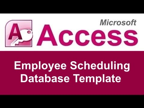 Microsoft Access Employee Scheduling Database Template  Youtube