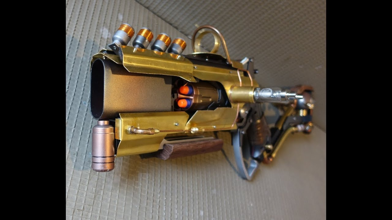 Nerf Mod Lever Action Hammershot Steampunk Style Youtube