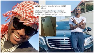 Medikal buy IPhone 11pro for Shatta Wale out of Frustration...Says Shatta's line is always Busy