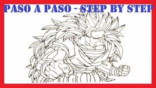 Como dibujar a goku ssj6 l How to draw goku ssj6 l Dibujos Fáciles l Easy Drawings