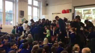 Parents dancing an Irish jig! Thanks