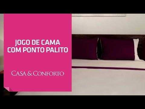 Jogo de Cama com Ponto Palito Casa & Conforto | Shoptime