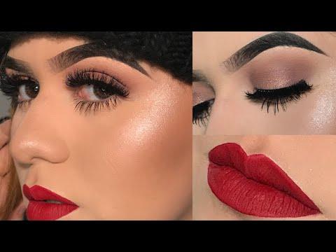 Soft Eyeshadow With a Red Lip - Kayla Martinez - 동영상
