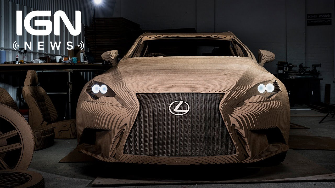 lexus built a fully functional electric car out of cardboard - ign