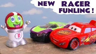 Cars Mcqueen Trains New Funny Funlings Racer Funling To Race Faster - Fun Cars Story Tt4u