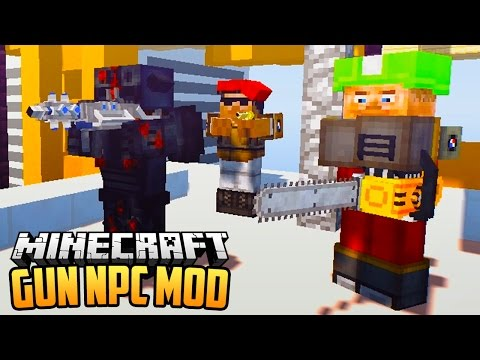 GUN NPC MOD - Minecraft Mod Showcase