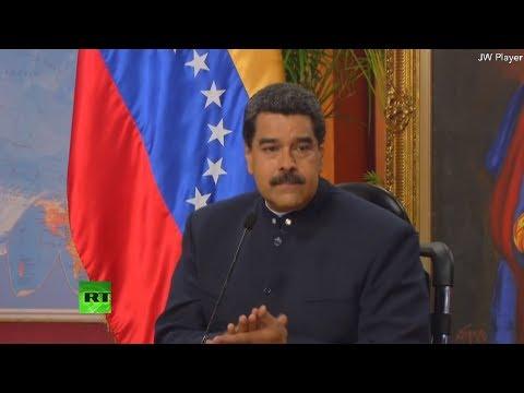 Conferencia de prensa de Nicolás Maduro con medios de comunicación internacionales