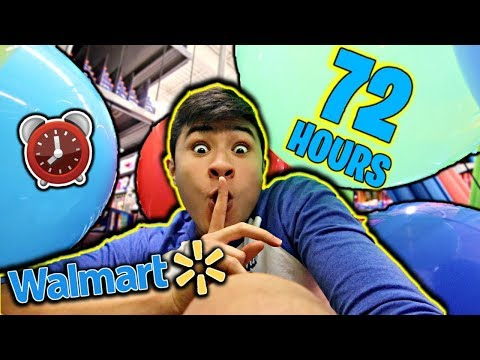 72 HOUR OVERNIGHT CHALLENGE IN WALMART (HIDE and SEEK) (PART 3)