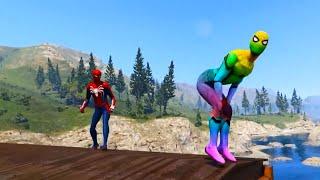 GTA 5 Falling Into Water Ragdolls SPIDERMAN VS BEACH GIRLS (GTA 5 Funny Moments)