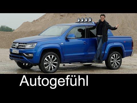 VW Volkswagen Amarok Aventura FULL REVIEW V6 TDI test driven offroad onroad new Facelift neu 2017