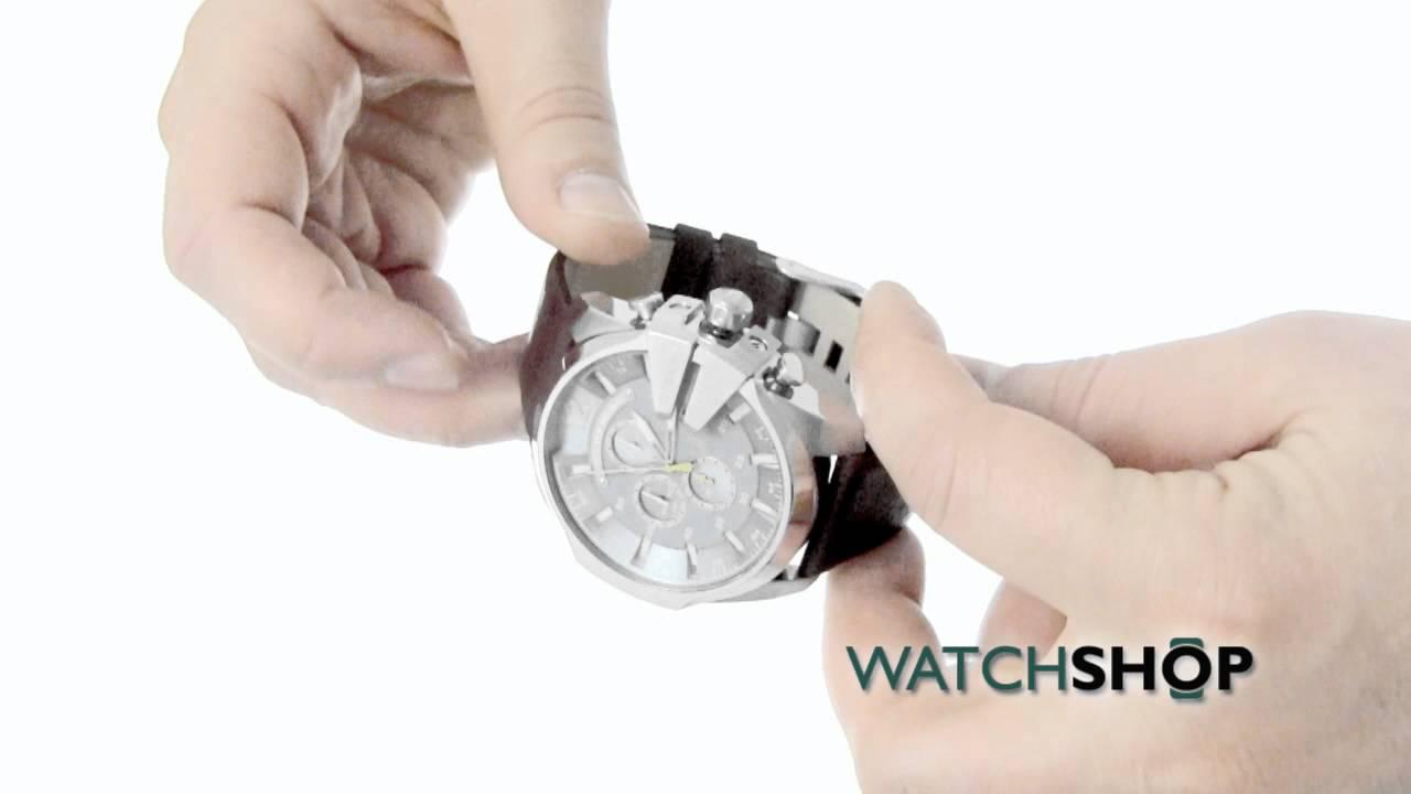 51800ab702ad Men s Diesel Master Chief Chronograph Watch (DZ4281) - YouTube