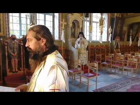 Σε άδεια στασίδια η θεία Λειτουργία στον ΙΝ Αγίου Θεολόγου χοροστατούντος του Μητροπολίτη Παϊσίου