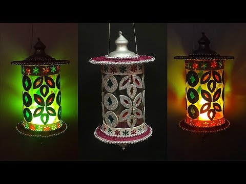DIY-Lantern/Showpiece/Tealight Holder/lamp from waste Plastic Bottle|diy lampshade plastic bottle