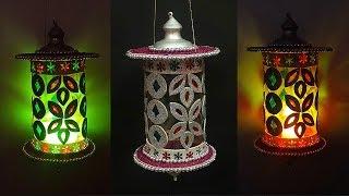 DIY-Lantern/Showpiece/Tealight Holder/lamp from waste Plastic Bottle|diy lampshade plastic bottle