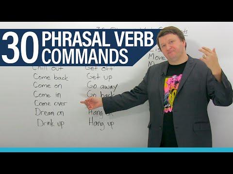 30 English Phrasal Verb Commands