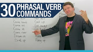 30 English Phrasal Verb Commands