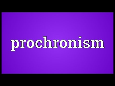 Header of prochronism