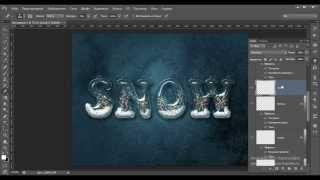Создаём снежный текст в Фотошоп