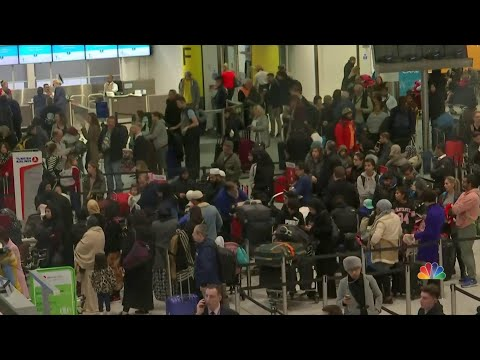 Two Arrested After Drone Brought Busy British Airport To A Standstill | NBC Nightly News