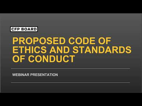 Proposed Revisions to CFP Board's Standards of Professional Conduct