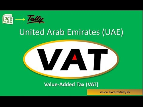 United Arab Emirates (UAE) VAT | Excel to Tally Import